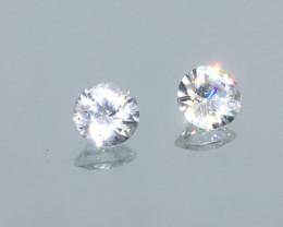 2.15 Carat VS Zircon - Diamond White Color - Color Flash Quality !