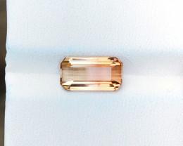 2.35 Ct Natural Bi Color Transparent Tourmaline Gemstone