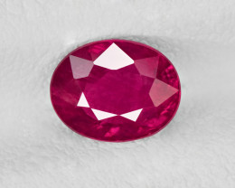 Ruby, 1.53ct - Mined in Mozambique | Certified by IGI