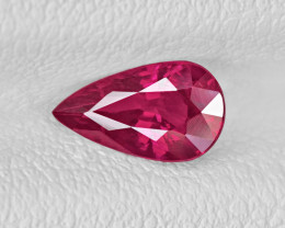 Ruby, 1.01ct - Mined in Mozambique | Certified by IGI