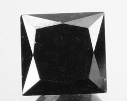 0.96 Cts Natural Coal Black Diamond Square Princess  Africa