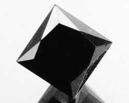 1.01 Cts Natural Coal Black Diamond Square Princess  Africa