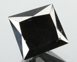 1.23 Cts Natural Coal Black Diamond Square Princess  Africa