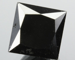 1.46 Cts Natural Coal Black Diamond Square Princess  Africa