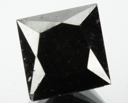 1.62 Cts Natural Coal Black Diamond Square Princess  Africa