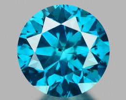 0.27 CT DIAMOND SPARKLING BLUE COLOR BD1