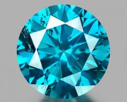0.23 CT DIAMOND SPARKLING BLUE COLOR BD 7