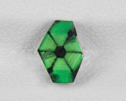Trapiche Emerald, 0.74ct - Mined in Colombia | Certified by IGI