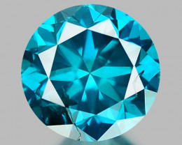 0.43 CT DIAMOND SPARKLING BLUE COLOR BD17