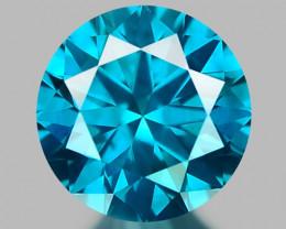0.32 CT DIAMOND SPARKLING BLUE COLOR BD18