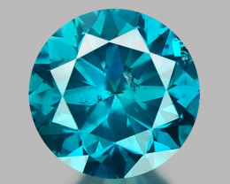 0.32 CT DIAMOND SPARKLING BLUE COLOR BD25