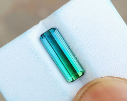 1.80 Ct Natural Blueish Green Transparent Tourmaline Gemstone