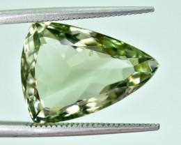 9.83 Crt Natural Prasiolite Faceted Gemstone.( AG 60)