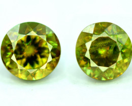 1.70 CT Calibrated Pair Natural Full Fire Sphene Titanite Gemstone