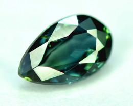 1.25 CT Bi-Color Flawless Parti Sapphire Gemstone Pear Cut