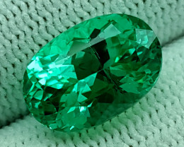 6.50CT GREEN SPODUMENE  BEST QUALITY GEMSTONE IIGC10