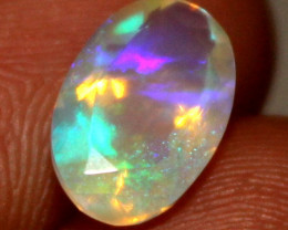 0.95 Crt Natural Ethiopian Welo Fire Faceted Opal 17