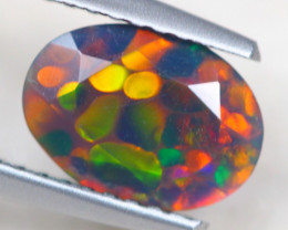 0.93ct Ethiopian Welo Solid Smoked Faceted Opal Lot B668