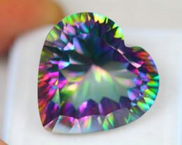 26.51Ct Natural Mystic Topaz Heart Cut Lot Z577