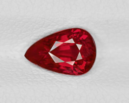 Ruby, 1.29ct - Mined in Mozambique | Certified by GRS & IGI