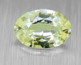 Unheated Yellow Sapphire well-cut, good brilliance 0.52ct (01551)