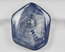 Blue Sapphire, 60.89ct - Mined in Burma   Certified by GRS