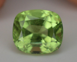 NO Reserve ~ 4.20 Ct Untreated Fancy Cut Apple Green Color Peridot