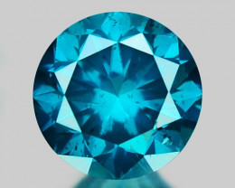 0.43 Ct Blue Diamond Top Class Sparkiling Luster Gemstone. DB 02