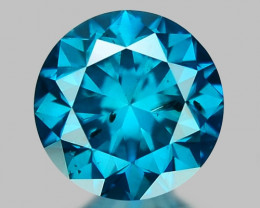 0.38 Ct Blue Diamond Top Class Sparkiling Luster Gemstone. DB 06