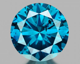 0.26 Ct Blue Diamond Top Class Sparkiling Luster Gemstone. DB 07