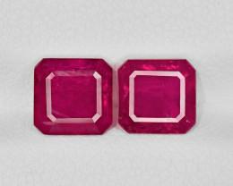 Pair of Rubies, 3.36ct - Mined in Afghanistan | Certified by IGI