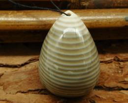 Natural gemstone stripe agate pendant (G0643)