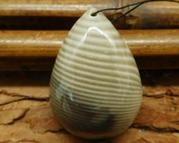 Stripe agate cabochon pendant (G0654)