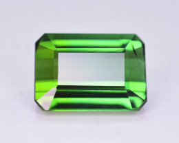 Fine Color 2.55 Ct Natural Parrot Green Tourmaline. RA3