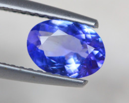 0.92Ct Violet Blue Tanzanite Oval Cut Lot Z343
