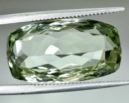 12.48 Crt Natural Prasiolite Green Amethyst Faceted Gemstone.( AG 61)