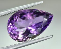6.66 Crt Natural Amethyst Faceted Gemstone.( AG 61)
