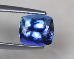 1.96Ct Natural Violet Blue Tanzanite Cushion Cut Lot LZ6999