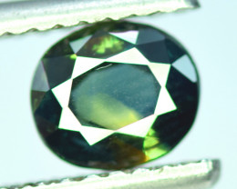 Bi- Color Flawless 1.45 CT Oval Cut Parti Sapphire Gemstone