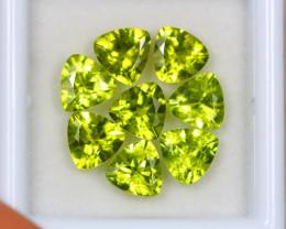 6.35Ct Green Peridot Trillion Cut Lot Z357