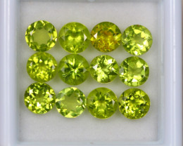 6.24Ct Green Peridot Round Cut Lot Z358