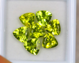 5.73Ct Green Peridot Trillion Cut Lot Z360