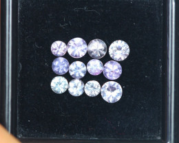1.65Ct Natural Pink Sapphire Round Cut Mix Size Lot Z363
