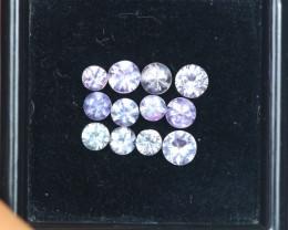 1.65Ct Pink Sapphire Round Cut Mix Size Lot Z363