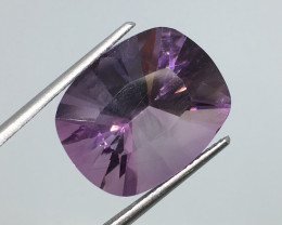 11.68 Carat VVS CERT.  Amethyst Unheated Precision Cut and Polished