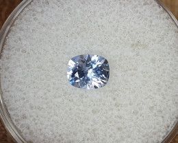 0,84ct Light  blue Sapphire - Master cut!