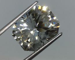 13.41 Carat VVS Topaz -Master Cut Diamond White Color Amazing Flash !