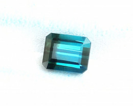 2 Ct Natural Blueish Bi Color Transparent Tourmaline Ring Size Gemstone