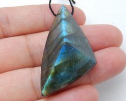 58cts Faceted Labradorite Pendant -Labradorite Stone, Healing Gemstone D75