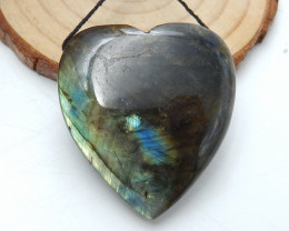 Heart Shape Pendant ,Handmade Gemstone ,Labradorite Pendant ,Lucky Stone D7